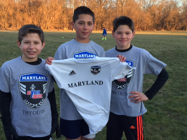 Congrats to these three (all currently playing for U13 Arsenal) on  being selected into the MD State Olympic Development Program!