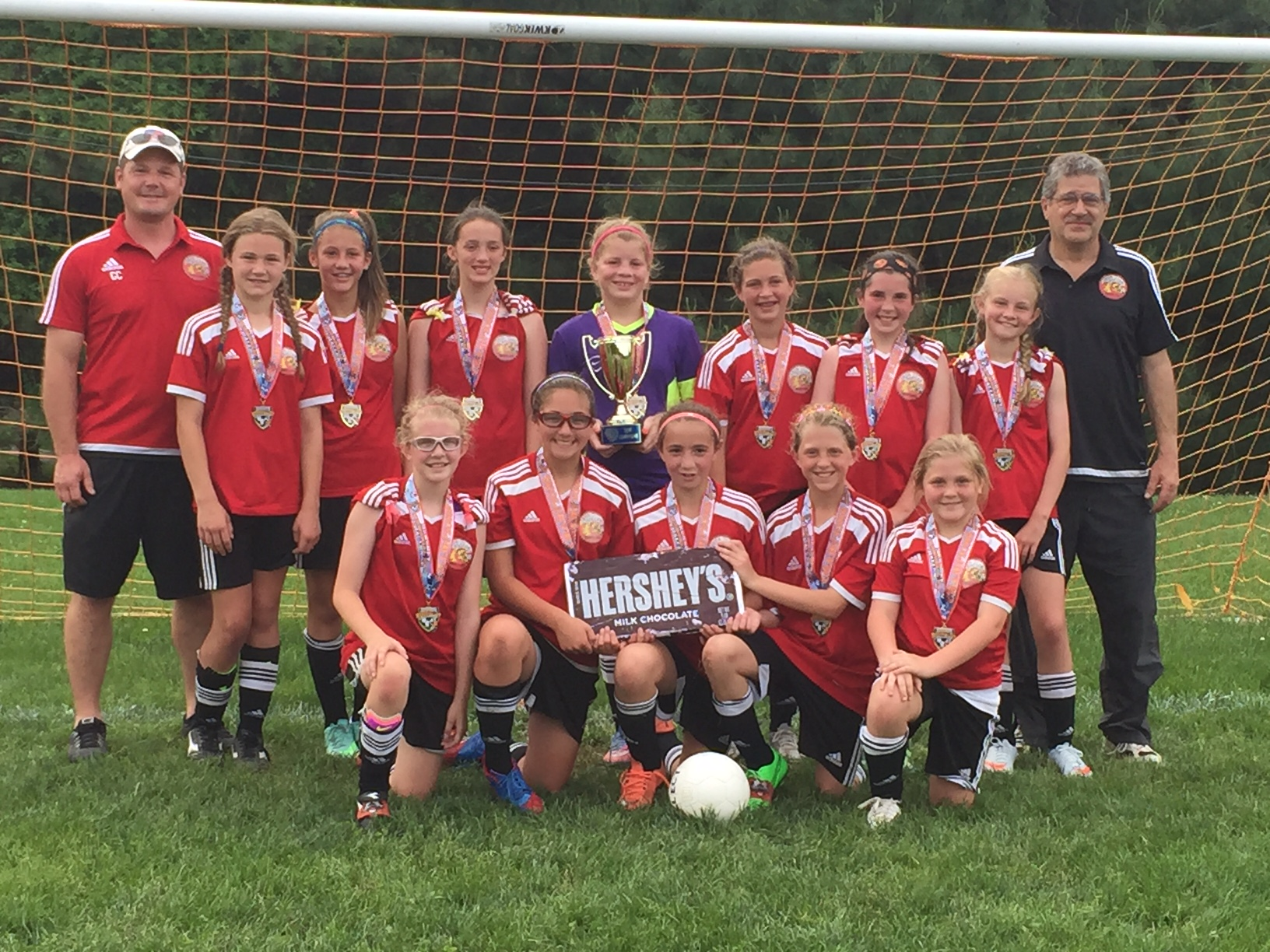 The U12 Girls Cecil Express finished up their 50 game 2015-2016 season with a championship at the 2016 Hershey Memorial Day Challenge Cup. CONGRATS!!!
