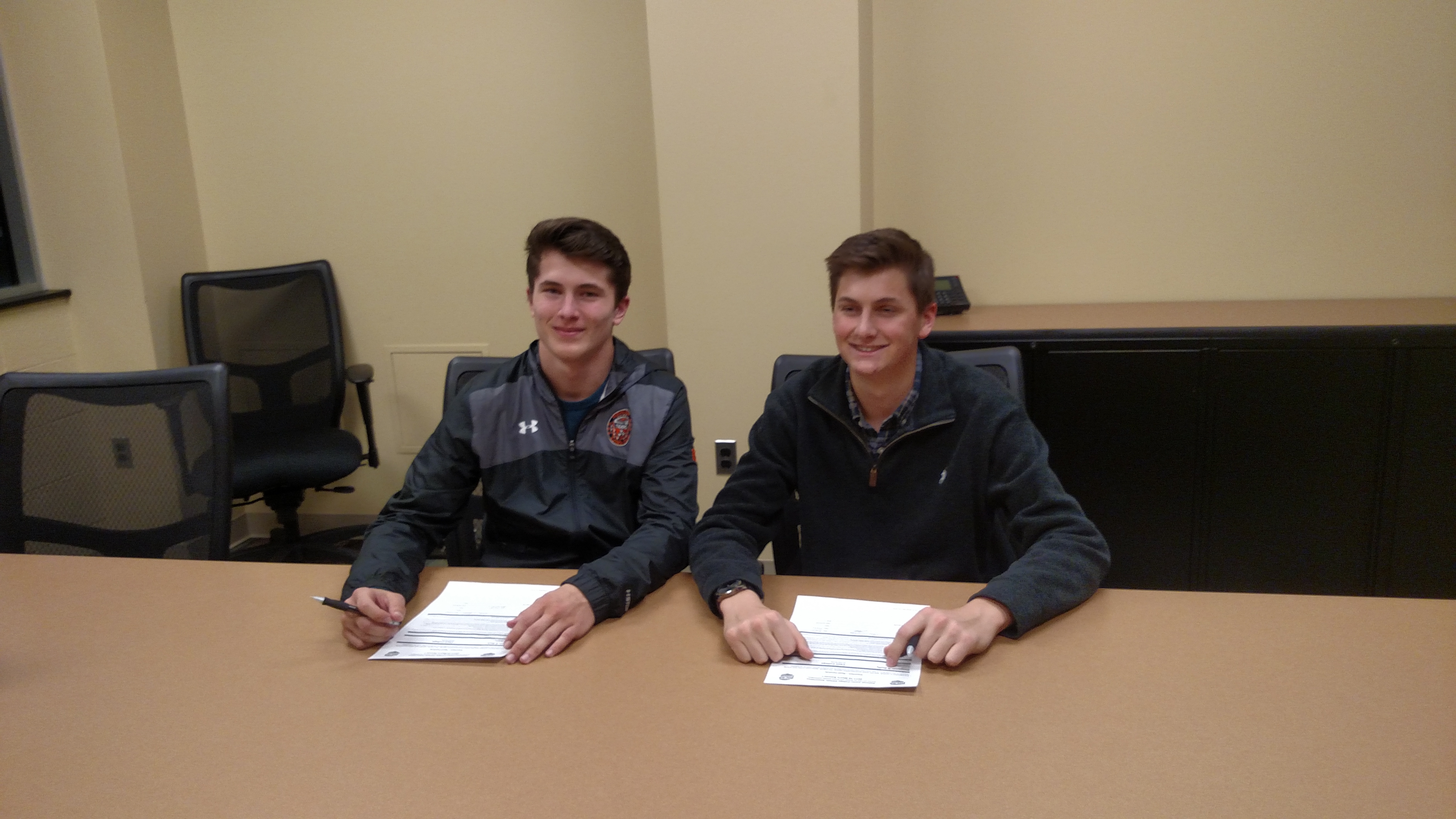 Colin Rich and Ben Duffy commit to Cecil College! Both are former Cecil Soccer Club players for the United. Congrats!